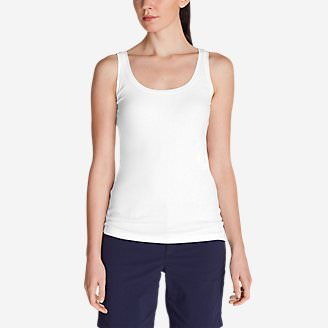 Women's Lookout 2x2 Rib Tank Top in White