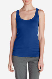Women's Lookout 2x2 Rib Tank Top in Purple