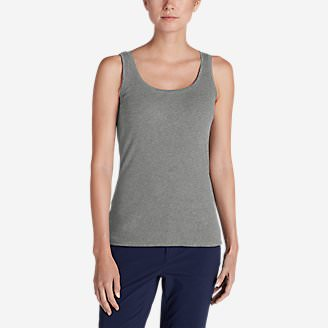 Women's Lookout 2x2 Rib Tank Top in Gray