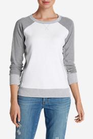 Women's Legend Wash Sweatshirt - Colorblock in White