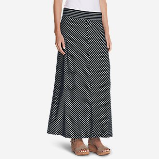 Women's Kona Maxi Skirt - Stripe in Blue