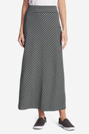 Women's Kona Maxi Skirt - Stripe in Gray