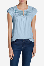 Women's Laurel Canyon Embroidered Top in Blue