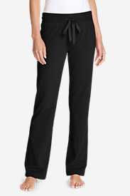 Women's Brushed Fleece Pants in Black