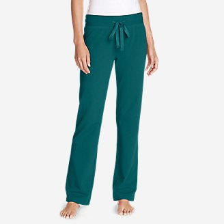 Women's Cabin Fleece Pants in Green