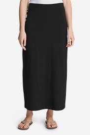 Women's Kona Maxi Skirt - Solid in Black
