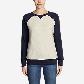 Women's Legend Wash Quilted Sweatshirt in Blue