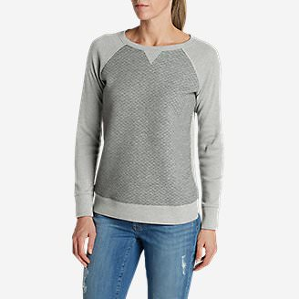 Women's Legend Wash Quilted Sweatshirt in Gray