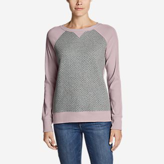 Women's Legend Wash Quilted Sweatshirt in Red
