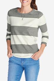 Women's Rugby Stripe Sweatshirt in Gray