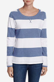 Women's Rugby Stripe Sweatshirt in Blue