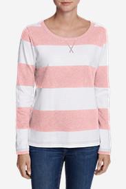 Women's Rugby Stripe Sweatshirt in Pink