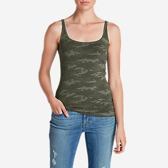 Women's Layerific Cami - Print in Green