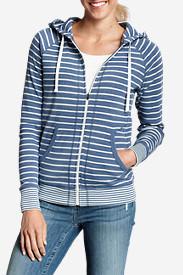 Women's Legend Wash Hoodie - Stripe in Blue