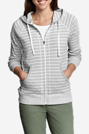 Women's Legend Wash Hoodie - Stripe in Gray