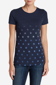 Women's Graphic Tri-Blend Crewneck T-Shirt - Stars in Blue