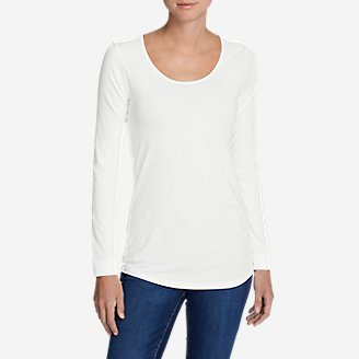 Women's Pima Scoop-Neck T-Shirt - Solid in White