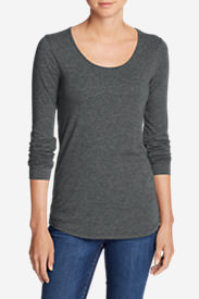 Women's Pima Scoop-Neck T-Shirt - Solid in Gray