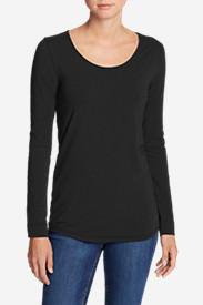 Women's Pima Scoop-Neck T-Shirt - Solid in Black