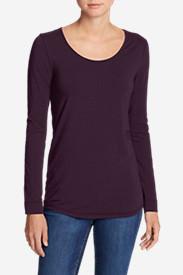 Women's Pima Scoop-Neck T-Shirt - Solid in Purple