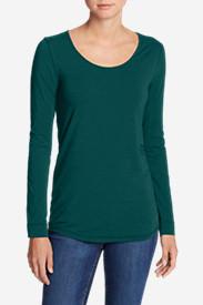 Women's Pima Scoop-Neck T-Shirt - Solid in Blue