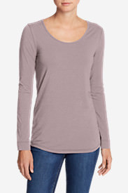 Women's Pima Scoop-Neck T-Shirt - Solid in Red