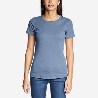 Women's Favorite Short-Sleeve Crewneck T-Shirt in Blue
