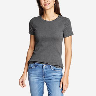 Women's Favorite Short-Sleeve Crewneck T-Shirt in Gray