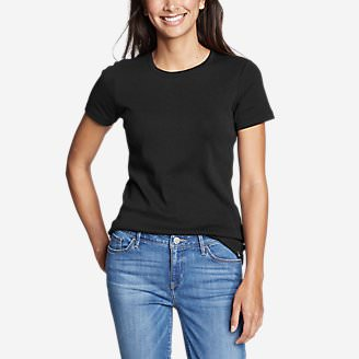 Women's Favorite Short-Sleeve Crewneck T-Shirt in Black