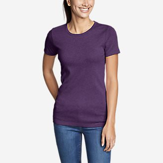 Women's Favorite Short-Sleeve Crewneck T-Shirt in Purple