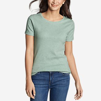Women's Favorite Short-Sleeve Crewneck T-Shirt in Green