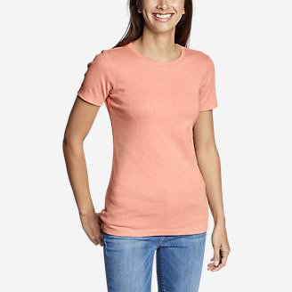 Women's Favorite Short-Sleeve Crewneck T-Shirt in Orange