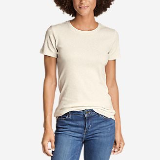 Women's Favorite Short-Sleeve Crewneck T-Shirt in Beige