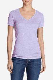 Women's Favorite Short-Sleeve V-Neck T-Shirt in Purple