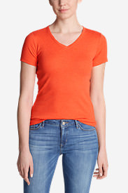 Women's Favorite Short-Sleeve V-Neck T-Shirt in Orange