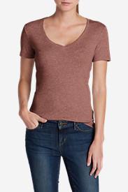 Women's Favorite Short-Sleeve V-Neck T-Shirt in Beige