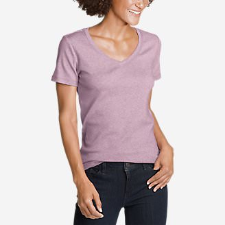 Women's Favorite Short-Sleeve V-Neck T-Shirt in Purple