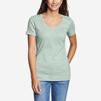 Women's Favorite Short-Sleeve V-Neck T-Shirt in Green