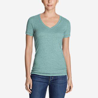 Women's Favorite Short-Sleeve V-Neck T-Shirt in Blue