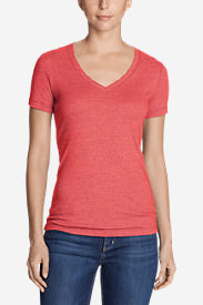 Women's Favorite Short-Sleeve V-Neck T-Shirt in Pink