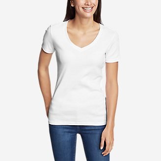 Women's Favorite Short-Sleeve V-Neck T-Shirt in White