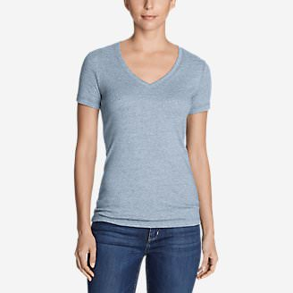 Women's Favorite Short-Sleeve V-Neck T-Shirt in Blue