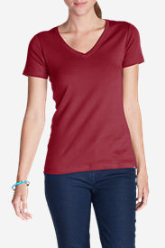 Women's Favorite Short-Sleeve V-Neck T-Shirt in Red