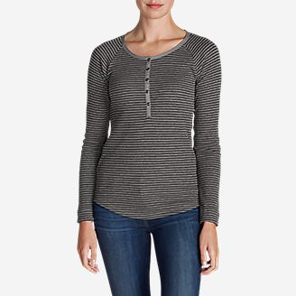 Women's Stine's Favorite Waffle Henley - Stripe in Gray