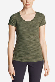 Women's Lookout T-Shirt - Space Dye in Green