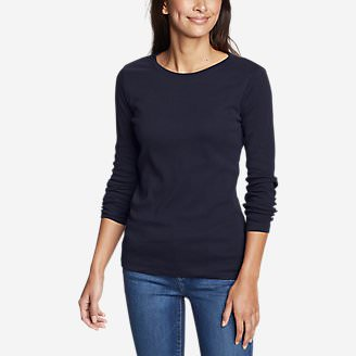 Women's Favorite Long-Sleeve Crewneck T-Shirt Tall in Blue
