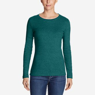 Women's Favorite Long-Sleeve Crewneck T-Shirt in Green