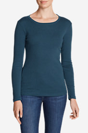 Women's Favorite Long-Sleeve Crewneck T-Shirt Tall in Green