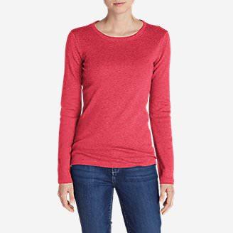 Women's Favorite Long-Sleeve Crewneck T-Shirt in Pink