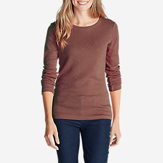 Women's Favorite Long-Sleeve Crewneck T-Shirt Tall in Beige
